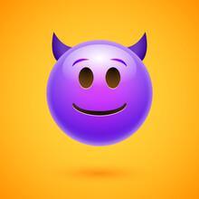 Emoji Crtoon Devil Bad Face Angry Happy Emoticon Man Scary