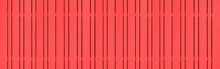 Panorama Of New Red Vintage Wooden Wall Texture And Background Seamless Or A White Wooden Fence