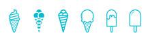 Ice Cream, Sweet Ice Cream, Children's Ice Cream Stand, Blue Ice Cream