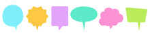 Speech Bubbles Set Of Inverted Rectangle Distorted Circle And Square Blank Shapes