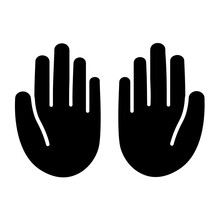 Pray To God And Religion Symbol. Prayer Hand Gesture Sign Icon Vector
