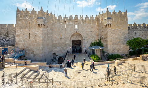 Fotografia The Damascus Gate is one of the main Gates of the Old City of Jerusalem