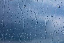 Rainy Days, Rain Drops On The Window Surface