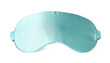 Turquoise sleep eye mask isolated on white