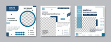 Set Of Minimalist Social Media Post Template. Suitable For Webinars, Seminars, Marketing, Flyer And Other Events. Vector Graphics Modern Background.