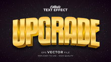 Editable Text Style Effect - Gold Upgrade Text Style Theme