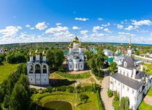 Pereslavl-Zalessky, Russia. Nikolsky Monastery. Nunnery. Aerial View