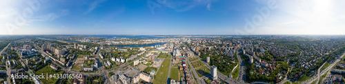 Foto Kazan, Russia. Aerial view. Circular panorama of Kazan