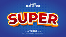 Editable Text Style Effect - Super Red Text Style Theme