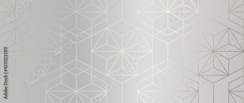 Fotografia Luxury Gold Geometric pattern background vector