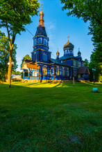 Beautiful Historic Orthodox Church In The Countryside, Puchły Poland
