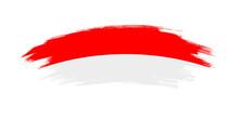 Artistic Grunge Brush Flag Of Indonesia Isolated On White Background
