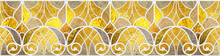 3D Rendering Gold Seamless Pattern For Ceramic Tiles For 3D Project. Tile Design For Bathroom And Kitchen. Gold Texture. Luxury Tiles. Vintage. Template.