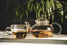 Tea In A Teapot In The Sun