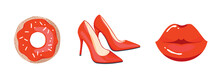 RED SHOES STILETTO LIP DONUT