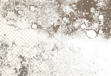 Mold, Mildew, Decay, Stains, Splashes, Explosion. On An Isolated Background. Trail Of Grunge Blots And Splashes. Vector Pattern Of Natural Origin.