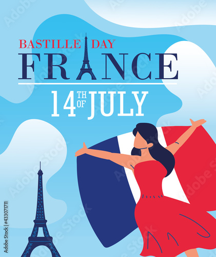 Obraz happy bastille day - fototapety do salonu