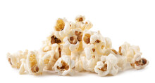 A Pile Of Popcorn On A White Background. Isolated