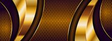 Abstract Luxury Dark Golden Brown Background Design.