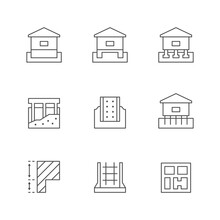 Set Line Icons Of Foundation