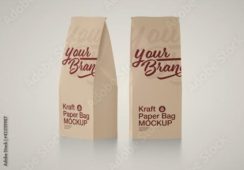 Fototapeta Kraft Paper Bag Mockup obraz
