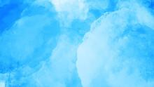 水色の手描きの水彩背景素材