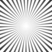 Star, Round Element, Halftone Rays Isolated On White Background. Black Logo. Geometric Shape.