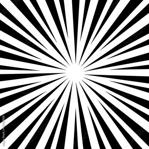 Fotografia, Obraz Black and white optical illusion burst background