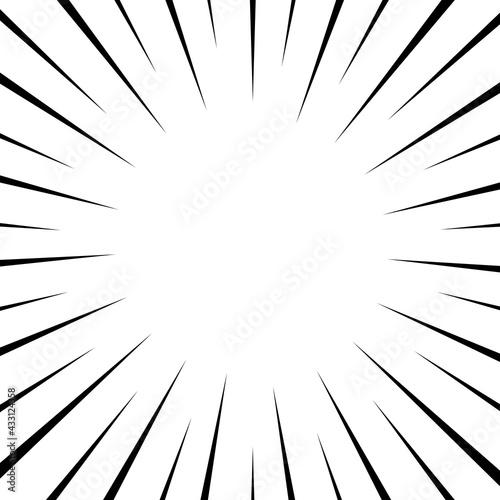 Obraz na plátne Black and white optical illusion burst background