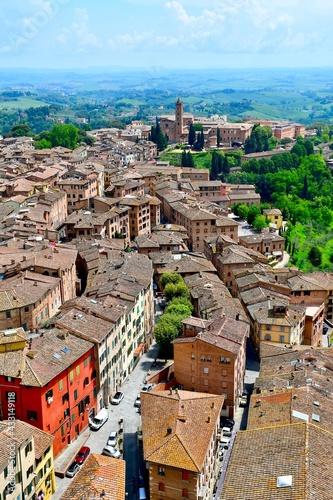 Naklejka premium Aerial View of Siena, Italy #3
