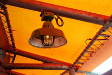 Lamp Under The Canvas Roof