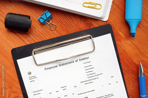 Canvas Print SBA form 770 Financial Statement of Debtor