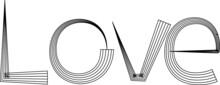 Vector Text Love Design Icon Logo Sign