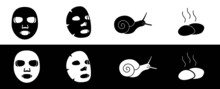 Set Of Vector Icons For Spa Treatments (bw)