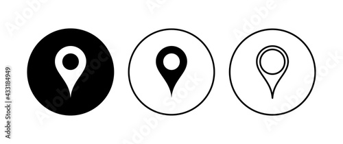 Vászonkép Pin icon set. Location icon vector. destination icon. map pin