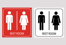 Man And Lady Toilet Sign