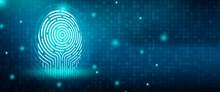 Future Security Technology. Fingerprint Scan Provides Security Access In DOF. Fingerprint Security Concept. 3D Render.