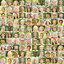 Aktive Gesellschaft Konzept Mit Outdoor Portraits