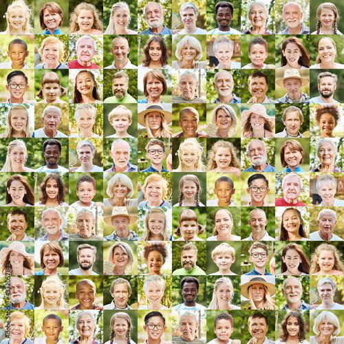 Fototapeta Aktive Gesellschaft Konzept mit Outdoor Portraits obraz