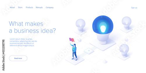 Brainstorming session concept in isometric vector illustration Fototapete