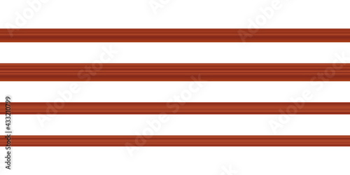 Canvas Print Vector illustration different shapes skirting boards for wall or floor isolated on white background