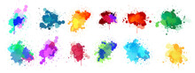 Set Of Watercolor Splashes