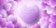 Leinwandbild Motiv Happy Valentines Day Background With Realistic Hearts_6