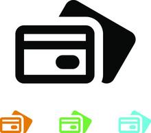 Credit Debit Bank Card Vector Icon, Eps Image