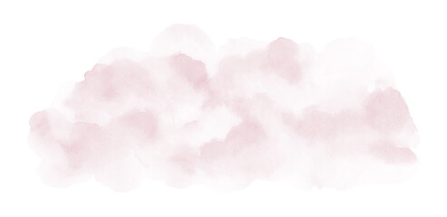 Abstract soft pink watercolor stain shape
