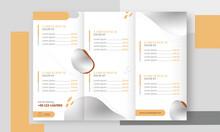 Menu Card Tri Fold Template Design For Restaurant OR Hotel.