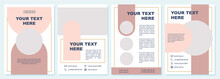Creative Pink Promotional Brochure Template. Flyer, Booklet, Leaflet Print, Cover Design With Copy Space. Your Text Here. Vector Layouts For Magazines, Annual Reports, Advertising Posters