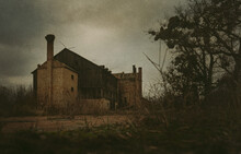 Old Abandoned And Decaying Factory Vintage Image