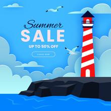 Summer-sale-illustration-paper-style