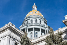 Dome Of The Colorado State Capitol Building In Denver